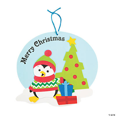 Christmas Penguin Sign Craft Kit