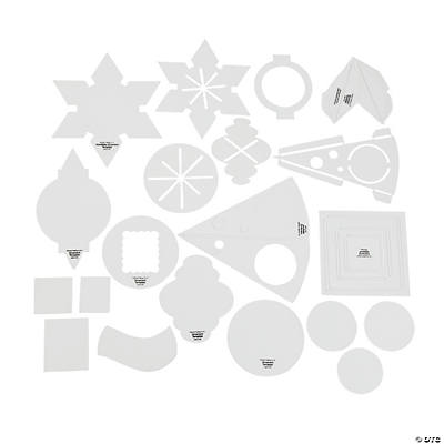 Christmas Picture Frame Ornament Templates