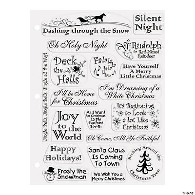 Christmas Songs Clear Stamps