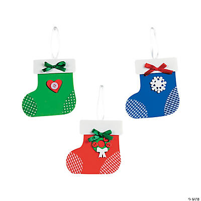 Christmas Stocking Ornament Craft Kit - 12
