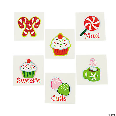 Christmas Sweet Treats Glitter Tattoos