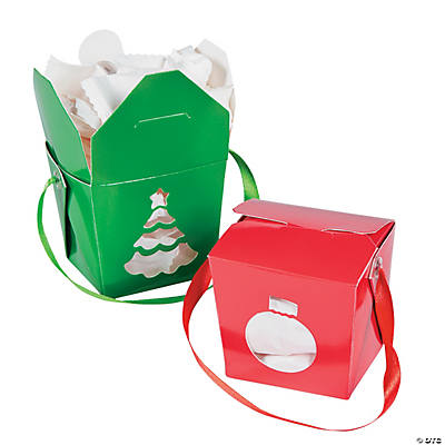 Christmas Takeout Boxes
