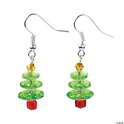 Christmas tree glass earrings craft kit for Craft and jewelry supplies