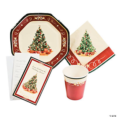 Christmas Tree Tableware & Invitations