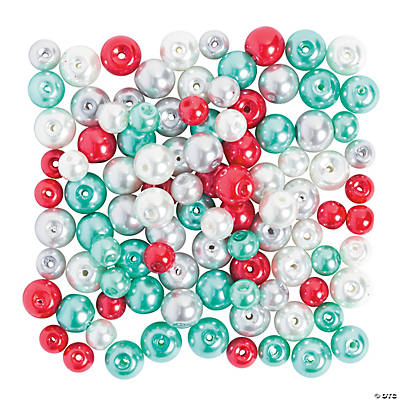 Christmas Winter Pearl Bead Assortment