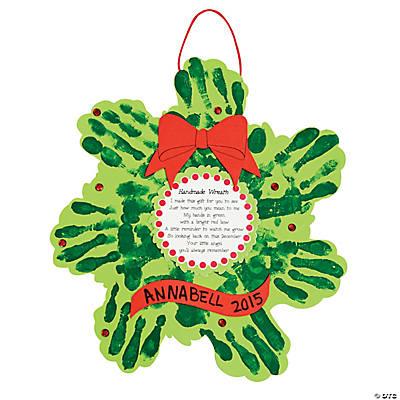 Christmas Wreath Handprint Poem Craft Kit  Oriental Trading