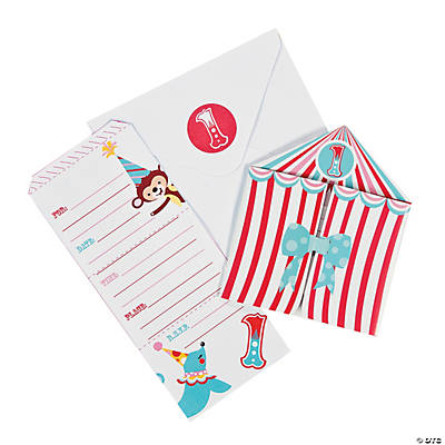 Circus 1st Birthday Invitations Oriental Trading Discontinued