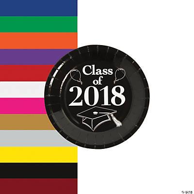 Class of 2018 Grad Party Dessert Paper Plates  sc 1 st  Oriental Trading & Party Plates Paper Plates Fancy Paper Plates