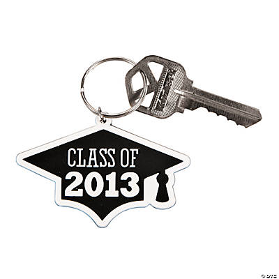 """Class of 2013"" Black Key Chains"