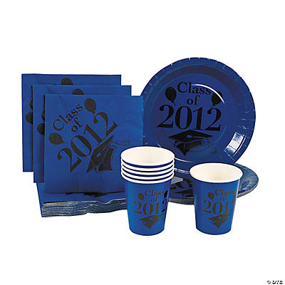 """Class of 2012"" Blue Tableware"