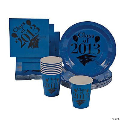 """Class Of 2013"" Blue Tableware"