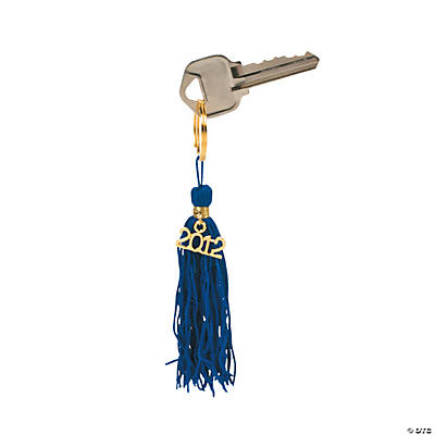 """Class of 2012"" Blue Tassel Key Chains"