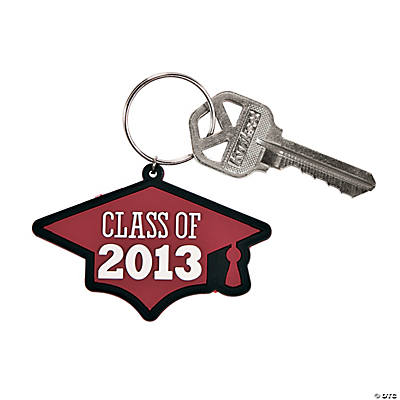 """Class of 2013"" Burgundy Key Chains"