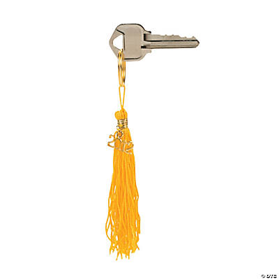 """Class of 2012"" Gold Tassel Key Chains"