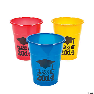 """Class of 2014"" Graduation Disposable Cups"