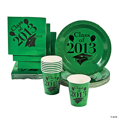 """Class Of 2013"" Green Tableware"