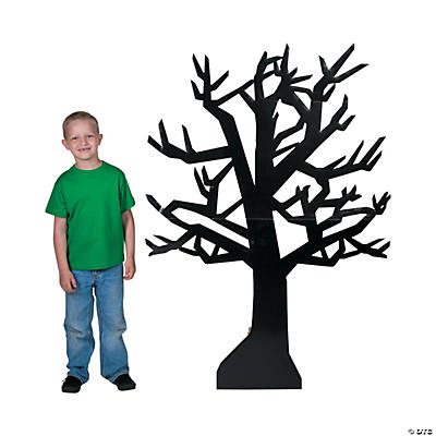 Classic Halloween Black Tree Stand-Up