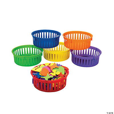 Classroom Small Round Storage Baskets