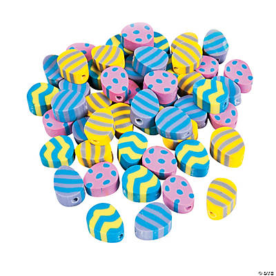 Clay Easter Egg Beads - 12mm