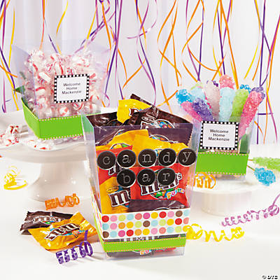 Clear Candy Buckets Idea