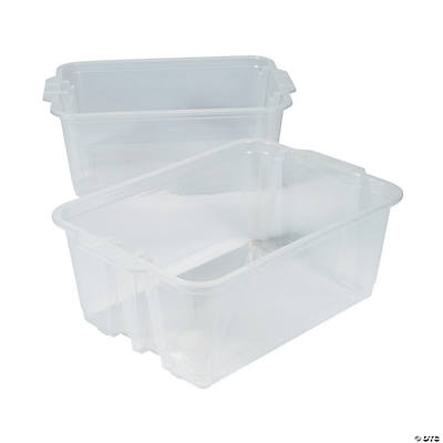 Clear Classroom Storage Tubs