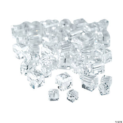 Clear Cube Cut Crystal Beads - 4mm-6mm