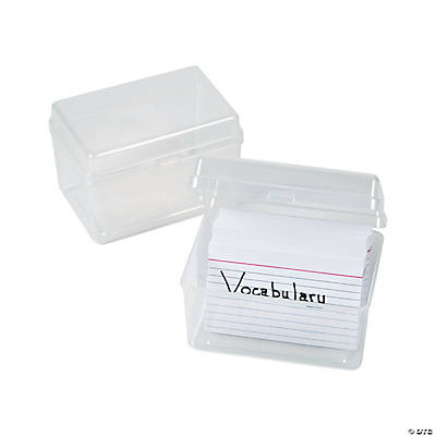 Clear Index Card Storage Bo