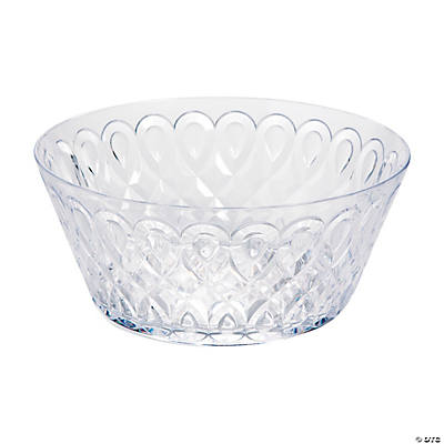 Clear Patterned Bowl