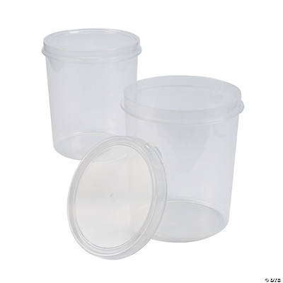 Clear Round Containers with Lids