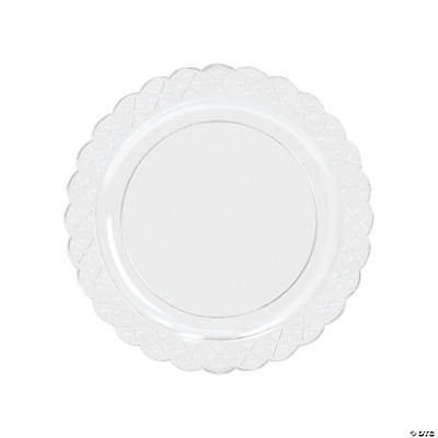 Clear Scalloped Plastic Salad Plates