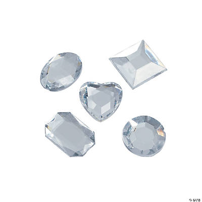 Clear Shaped Adhesive Jewels