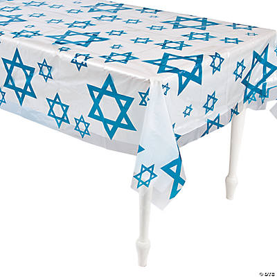 Clear Star of David Print Tablecloth