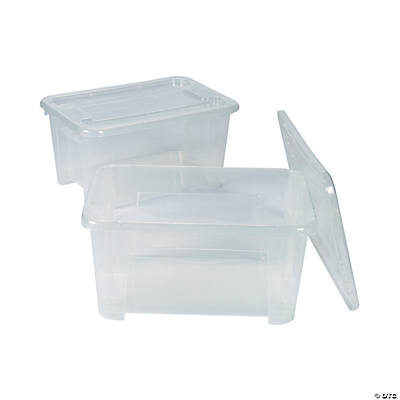 Clear Storage Bins With Lids