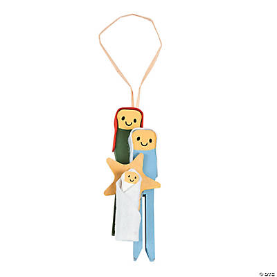 Clothespin Nativity Christmas Ornament Craft Kit