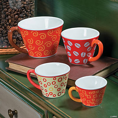 Coffee Cup Decorative Measuring Cups