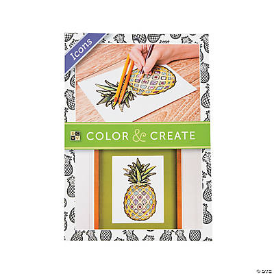 Color and Create: Icons Adult Coloring Book