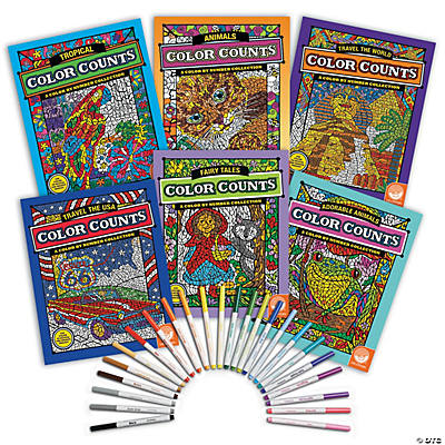 Color Counts Set Of 6 With 24 Free Markers
