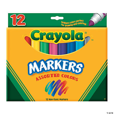 12-Color Crayola® Conical Tip Markers