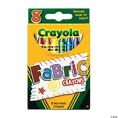 8-Color Crayola® Fabric Crayons (12 Boxes)