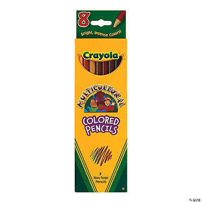 8-Color Crayola® Multicultural Colors Colored Pencils