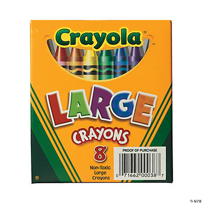 8-Color Crayola® 8 Pc. Large Crayons