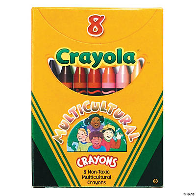8-Color Crayola® 8 Pc. Multicultural Colors Crayons