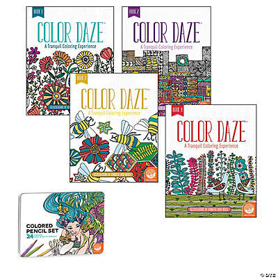 Color Daze: Set of 4 with 24 Colored Pencils