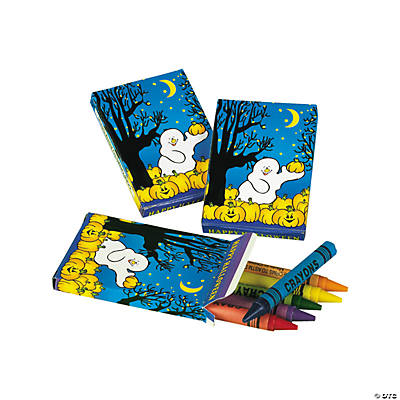 6-Color Pumpkin Patch Halloween Crayons (24 Boxes)