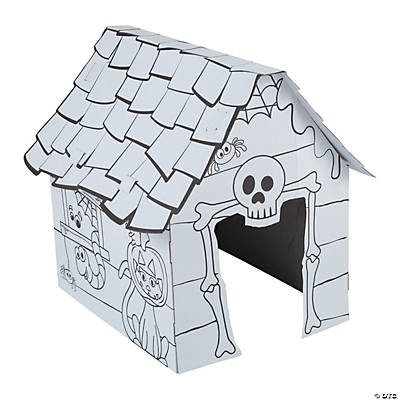 Color Your Own 3D Haunted House Playhouse