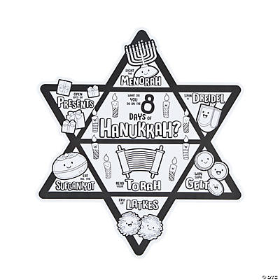 Color Your Own 8 Days of Hanukkah Posters
