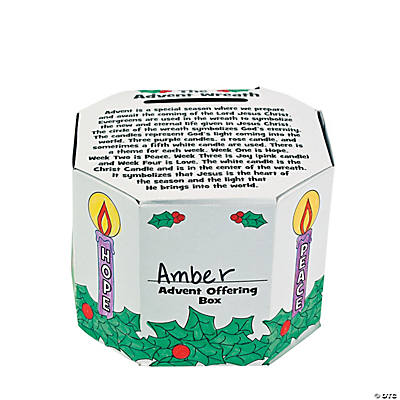 Color Your Own Advent Offering Boxes