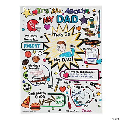 "Color Your Own ""All About Dad"" Posters"