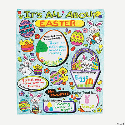 "Color Your Own ""All About"" Easter Posters"