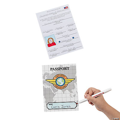 Color Your Own All About Me Passports